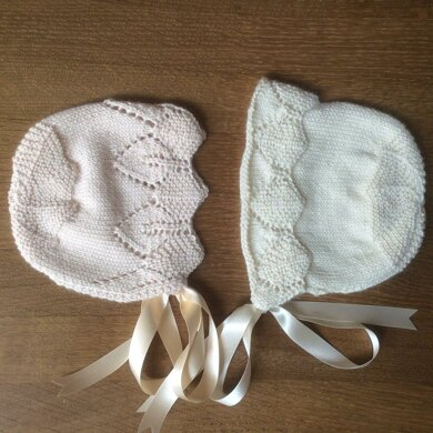 Traditional Lace Baby Bonnets