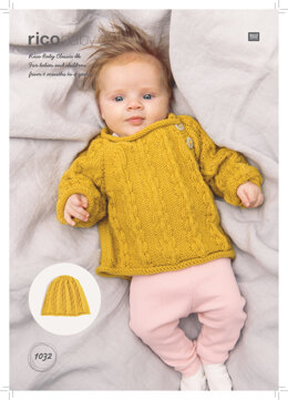 Baby's Hat and Jumper in Rico Baby Classic DK - 1032 - Downloadable PDF