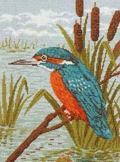 Anchor Kingfisher Tapestry Kit - 23 x 30.5 cm
