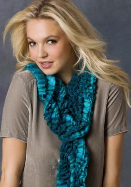 Lola's Scarf in Red Heart Boutique Ribbons - LW2884
