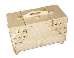 Cantilever Sewing Box with Drawer, Beech Wood -  Light Colour