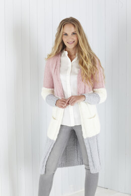 Ladies V Neck Cardigan and Round Neck Cardigan in King Cole Timeless Chunky in King Cole - 5623 - Leaflet
