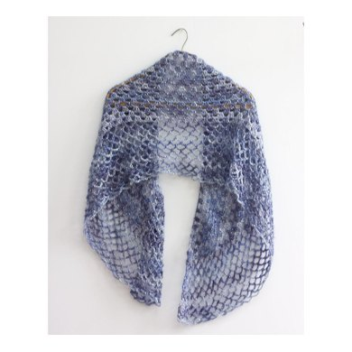 Easy Lace Shawl in a Ball