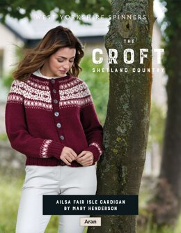 Ailsa Fair Isle Сardigan in West Yorkshire Spinners The Croft Shetland Country - DBP0081 - Downloadable PDF