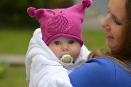Owl Baby Hat Knitting Pattern