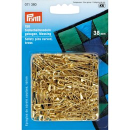 Prym Safety Pins curved No. 2 38mm Gold-Coloured