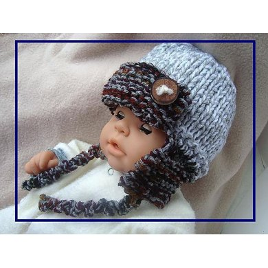 633 KNIT Aviator Hat, Baby to Adult, Unisex