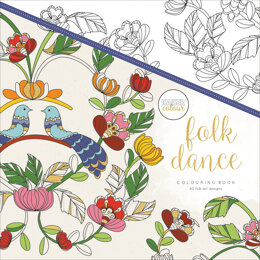 "Kaisercraft KaiserColour Perfect Bound Coloring Book 9.75""X9.75"" - Folk Dance"