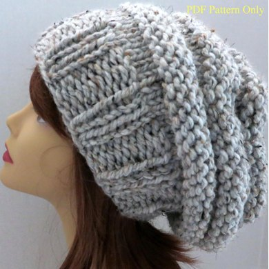 Chunky Mini Beehive Slouch Hat Pattern Knitting Pattern By Grace