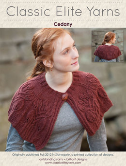 Cedany Capelet in Classic Elite Yarns Magnolia - Downloadable PDF
