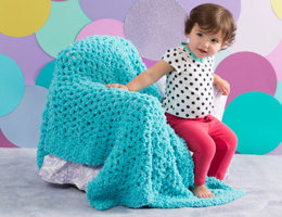 Nap Time Baby Blanket in Red Heart Buttercup - LW4586 - Downloadable PDF