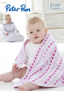 Triangular Shawl and Baby Snuggle Bag in Peter Pan Cupcake - 1206