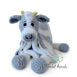 Cuddle and Play Cow Crochet Blanket King Cole Comfort Chunky