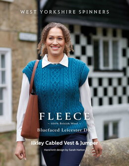 Ilkley Cabled Vest & Jumper in West Yorkshire Spinners Bluefaced Leicester DK - DBP0177 - Downloadable PDF