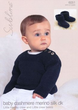 Jumper and Booties in Sublime Baby Cashmere Merino Silk DK - 6051