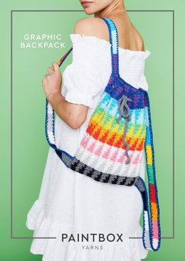 """""""Graphic Backpack"""" - Free Bag Crochet Pattern in Paintbox Yarns Cotton Aran - COT-AR-CRO-ACC-001"""
