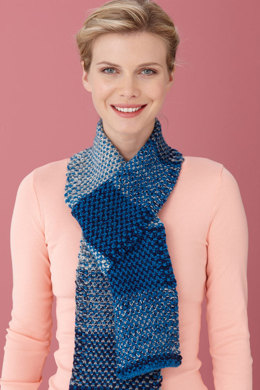 Berry Sparkle Scarf in Lion Brand Vanna's Glamour and Vanna's Choice - L0417B