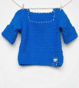 Blue Rose Crochet Baby Cardigan