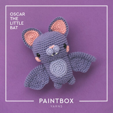 Oscar the Little Bat - Free Toy Crochet Pattern For Halloween in Paintbox Yarns Cotton Aran by Paintbox Yarns