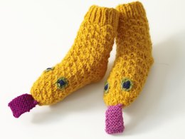 Knit Child's Snake Socks in Lion Brand Wool-Ease - 70300AD