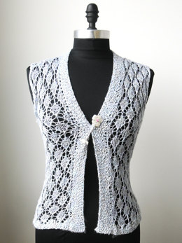Lace Bull's Eye Vest in Artyarns Beaded Silk and Sequins Light - I226
