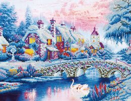 Diamond Dotz Winter Village Diamond Painting Kit