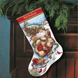 Dimensions Santa's Journey Stocking Cross Stitch Kit - 41cm