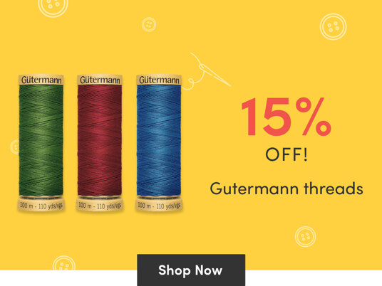 Today only! 15 percent off Gutermann threads!