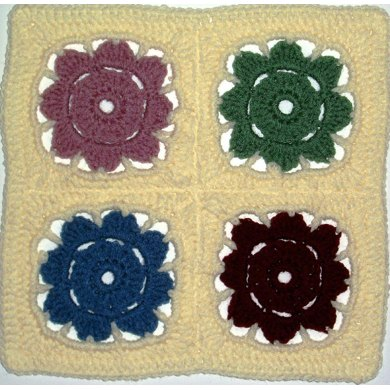 "Mosaic Four-Patch - 12"" square"