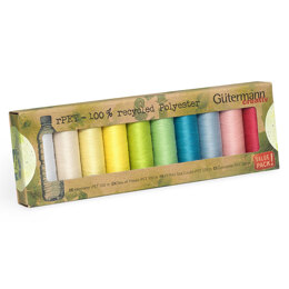 Gutermann Sew-All: Recycled: 10 x 100m: Assorted Pack #3