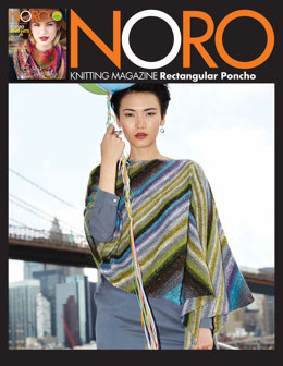 Rectangular Poncho in Noro Silk Garden Sock Yarn - 27 - Downloadable PDF