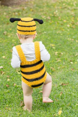 Bumble Bee Baby Hat & Playsuit Set