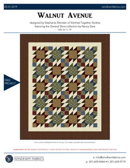 Windham Fabrics Walnut Avenue - Downloadable PDF