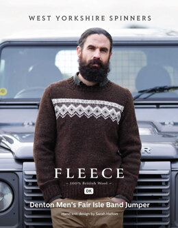 Denton Men's Fair Isle Band Jumper in West Yorkshire Spinners Jacobs DK - DBP0167 - Downloadable PDF