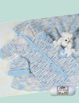 Crocheted Baby Set Naptime in Red Heart Soft Baby Solids and Multis - LW1311 - Downloadable PDF