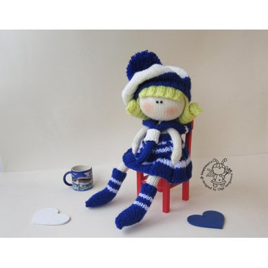 Knitting Pattern For Sailor Doll : Doll sailor Knitting pattern by Simplytoys13