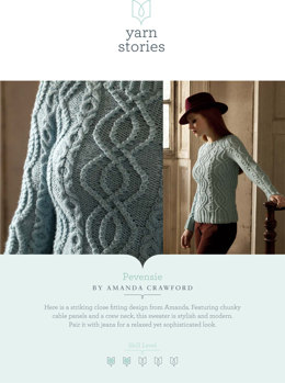 Pevensie Sweater in Yarn Stories Fine Merino and Baby Alpaca Aran - Downloadable PDF