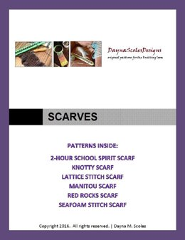 Scarves eBook - 6 loom knit patterns