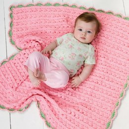 Cuddle & Coo Blanket in Red Heart Soft Baby Steps Solids - LW2503