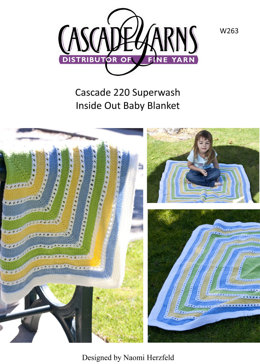Inside Out Baby Blanket in Cascade 220 Superwash - W263