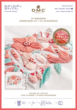 DMC Love Flowers Kit - Large Embroidery Kit
