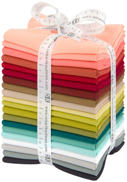 Robert Kaufman Kona Cotton Solids Fat Quarter Bundle - FQ-1481-20