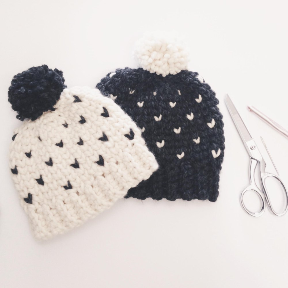 Chunky Fair Isle Hat Crochet pattern by Sweet Everly B