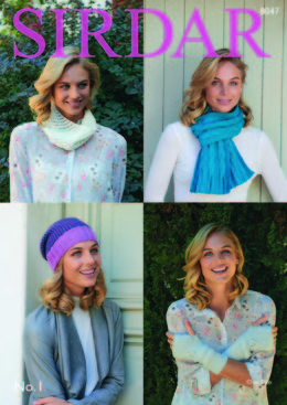 Scarf, Hat, Wrist Warmers and Snood in Sirdar - 8047 - Downloadable PDF