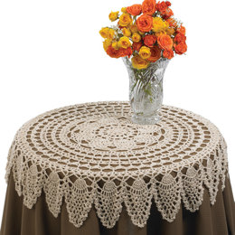 Table Topper in Red Heart Luster Sheen Solids - LW1501 - Downloadable PDF