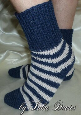 Croched Striped Socks