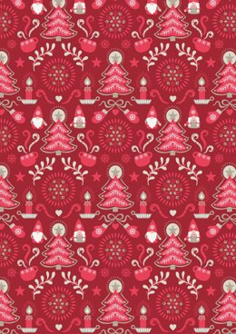 Lewis & Irene Hygge Christmas red Tonttu Cut to Length