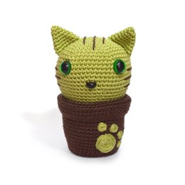 Minty Kitty Cactus - Cat Chat Flower Fleur Amigurumi