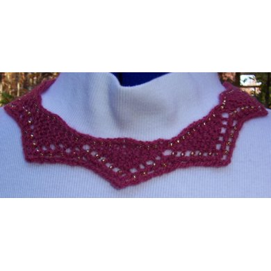 Garnet Glow (cashmere beaded necklace)