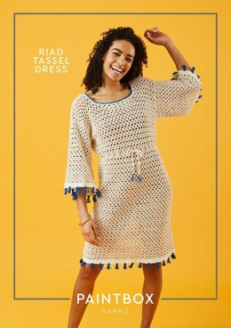 Riad Tassel Dress in Paintbox Yarns Cotton DK - Downloadable PDF